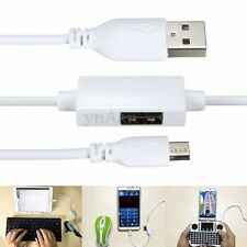 USB Male to Micro USB Male & USB OTG Adapter Converter Charging Charge Cable New