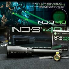 Outdoor Hunting Light ND3 x40 Green Laser Sight Genetics Designator w/ mounts