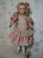 "24"" ANTIQUE BISQUE HEAD GERMAN DOLL CIRCA 1910"