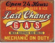 Last Chance Vintage Design USA Tankstellen Metall Deko Schild