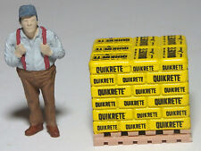 O scale pallet load of yellow Quikrete sacks  1/43   T