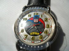 New Batman black leather fossil watch.quartz battery w- resistant watch.Li-1034