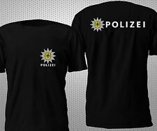 NEW POLIZEI BUNDESPOLIZEI POLICE GERMANY 2 SIDES T SHIRT S-4XL