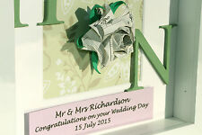 Personalised wedding anniversary, marriage, engagement gift frame - origami rose