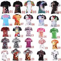 Women Short Sleeve Cycling Jersey Bike Clothing Tee Bicycle Sport Top Team Shirt