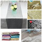 16×108 Inch Colorful Sparkly Sequin Table Runners Tablecloth Wedding Party Fun