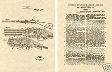 FN PUMP ACTION 22 US PATENT Art Print READY TO FRAME! Gun .22 cal John Browning