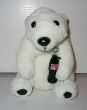 Coca Cola White Bear Holding Coke Bottle - Coca Cola Plush Collection - 1993