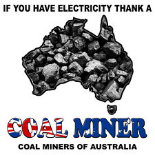 VINYL DECAL AUSTRALIAN MAP COAL MINER Size apr 80mm by 80mm MADE IN AUSTRALIA