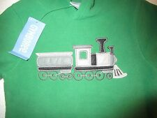 GYMBOREE Choo Choo Train Green Fleece Hoodie Sweatshirt Boys Sz 12 24 months NWT