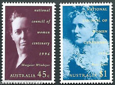 1996 '100th Anniversary of the National Council of Women' Pair of Stamps:Muh