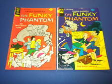 THE FUNKY PHANTOM #12 and #13 Gold Key/Whitman 1975 lot HANNA-BARBERA cartoons