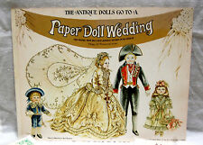 Vintage The Antique Dolls Go To A Paper Doll Wedding Book  Uncut  Beautiful