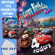 CARS - PERSONALISED Birthday Card Son Brother Nephew Grandson
