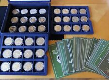 FULL SET OF 36 X PROOFLIKE MEDAL COINS BOX + COA'S HONOURING THE BRITISH ARMY