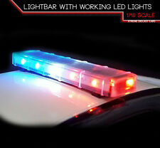 ACME A1800146 1:18 POLICE LIGHTBAR WITH WORKING LED LIGHTS BULK PACK