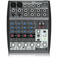 Behringer Xenyx 802 Premium 8-Input 2-Bus Mixer with Mic Preamps and British EQs