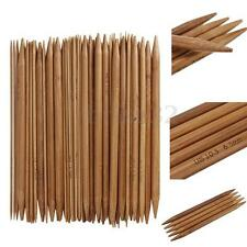 "75pcs 15size 8"" 20cm Double Pointed Carbonized Bamboo Knitting Needles"