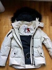 Moose Knuckles Women's Jacket (New With Tags) Size Small- Cream With Black Fur