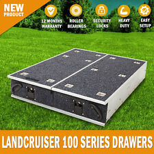 NEW Landcruiser 100 Series GXL Rear Steel Frame Storage Drawers With Carpet