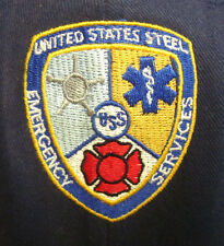 UNITED STATES STEEL EMERGENCY SERVICES flexfit cap lrg embroidery baseball hat