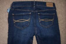 GIRLS 14 SLIM - ABERCROMBIE KIDS - BLUE DENIM JEANS - USED - N
