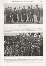 "1900 ANTIQUE PRINT-BOER WAR-OFFICERS OF THE C.I.V., ON BOARD THE ""GARTH CASTLE"""