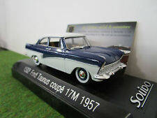 FORD  TAUNUS COUPE 17M 1957 au 1/43 SOLIDO 20370700 voiture miniature collection