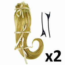 "Hair Extensions Clip In 2 Piece Ken Paves Hairdo Ginger Blonde Fashion 16"" x2"