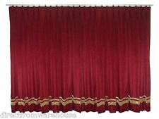 Saaria Thermal Blackout Velvet Pinch Pleated Drape Curtain With Stripe 8'W x 8'H
