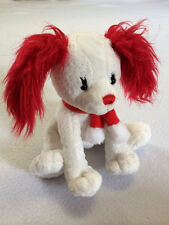 Ganz Red Papillon Plush Puppy Dog With Scarf Stuffed Animal White Sparkle
