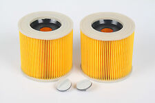 Pack of 2 Cartridge Filter Fit KARCHER Vacuum Cleaner Hoover Wet Dry A2676 A2901