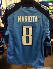 Men's Tennessee Titans Marcus Mariota Jersey NFL Football X-Large Home Blue