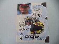 advertising Pubblicità 1996 CASCO HELMET AGV Q3 e MAX BIAGGI