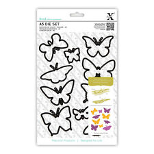 10 piece A5 sheet die set Butterflies  Butterfly dies Use Xcut Sizzix Big Shot