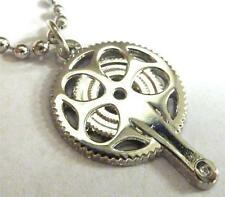 Bicycle Cyclist Gear Pedal Mountain Bike Speed Pendant Necklace w/ chain
