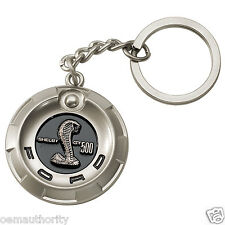 NEW OEM Mustang Shelby Cobra GT500 Nickel Key Chain Tag - Genuine Ford Apparel