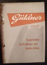 Güldner Schlepper Kraftheber + Geräteanbau ET-Liste