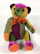 Bath & Body Works Patch the Patchwork Teddy Bear Plush Multi Color Stuffed