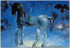 Happy Unicorn - Hand Painted Salvador Dali Surrealism Oil Painting On Canvas