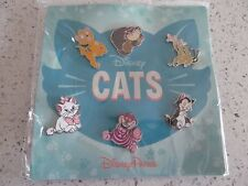 Disney Trader Pins Lot of 6 Cats Set Disneyland Disney World Lanyard Pins