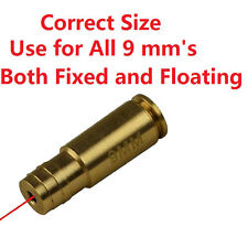 9 mm Cartrage Laser Bore sighter Boresight,For All 9mm's Both Fixed and Floating
