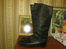 Russian Soviet Military Army Officer Leather Riding Boots Size 43 W US 10.5