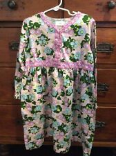 Cute Hanna Andersson Size 120 (6-8 Years) Floral Play Dress