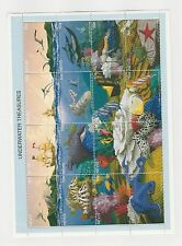 Nevis, British, Postage Stamp, #934 Mint Hinged Sheet, 1995 Sea Life