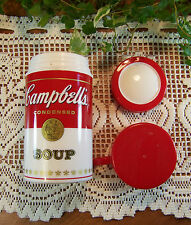 Vintage 1998 CAMPBELL'S SOUP CAN-TAINER Lunchbox Insulated Plastic THERMOS