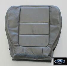 2001 Ford F350 4X4 Diesel Dually Quad-Cab -DRIVER Bottom LEATHER Seat Cover Gray