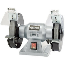 "DRAPER 150mm 6"" Workshop Bench Grinder Twin Grinding Stones 150w 240v 83420"