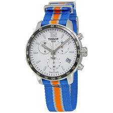 Tissot Quickster Knicks NBA Special Edition Silver Dial Mens Watch