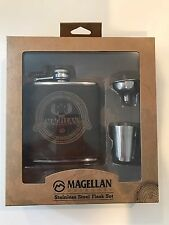 Magellan Stainless Steel Drinking / Liquor Flask Shot Set